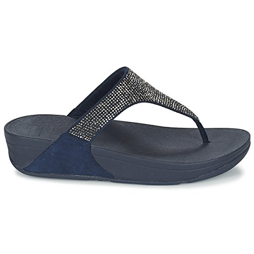 FitFlop Damen Slinky Rokkit Toe-Post Sandalen mit Absatz, Schwarz Navy