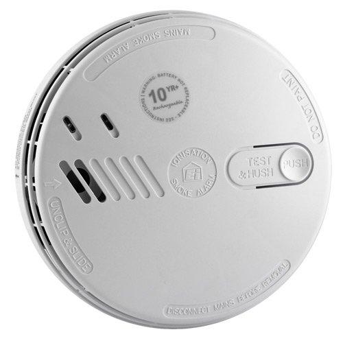 Aico-Rilevatore di fumo a ionizzazione con batteria al litio 10 anni, 230 V, ricaricabile, compatibile con interruttore di controllo allarme Ei1529RC)
