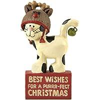 Piccolo Gatto 8181116migliori auguri di Natale, decorazione natalizia, fiori secchio