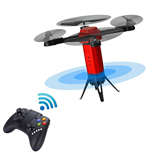 Joso Mini Drone Camera, Remote Control Drone Automatically Avoid Obstacles Aerial Photography and Altitude Hold and Auto Return Move At High Speed Red Christmas gift (Included Camera)