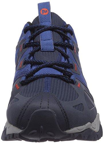 Merrell - Grassbow Sport Gore - TEX - Chaussure de trek et de Chaussure de randonnée - Homme - Bleu (Navy/Tahoe Blue)