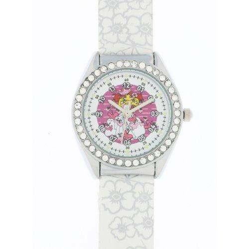 Ei-4042703DDP Kinder-Armbanduhr Analog Quarz Weiß Zifferblatt weiß Gummi Strap Rosa