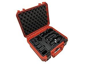 Mallette de transport professionnelle « Travel Edition Plus » pour DJI Mavic Air. Nombreux emplacements pour ranger en intégralité le Fly More Combo et des accessoires ou bien jusqu'à 10 batteries. Mallette étanche à l'eau, IP67, boîtier rigide, fabriqué
