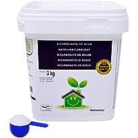 NortemBio Bicarbonate de Soude 3 Kg, Intrant de la Production Biologique, sans Aluminium, Qualité Supérieure, 100% Naturel. Développé en France.