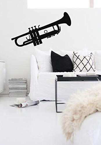 Wall Decal Vinyl Sticker Trumpet Jazz Instrument Music Horn Bedroom 22  Inches