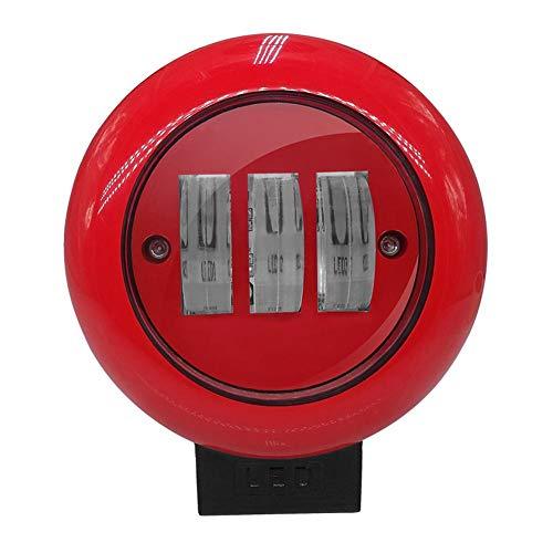 Cracklight 30W LED-Arbeitsscheinwerfer, Wasserdichte Nebelscheinwerfer-IP68 Aluminiumluftfahrt-Beleuchtungs-Rotes Rundes Fahrzeug-Arbeitsscheinwerfer-Scheinwerfer für LKW-Serien-Laufkatze SUV UTA