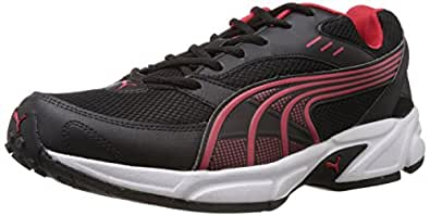 Puma Men's Storm Ind. Black and High Risk Red Running Shoes - 11 UK /India(46EU)