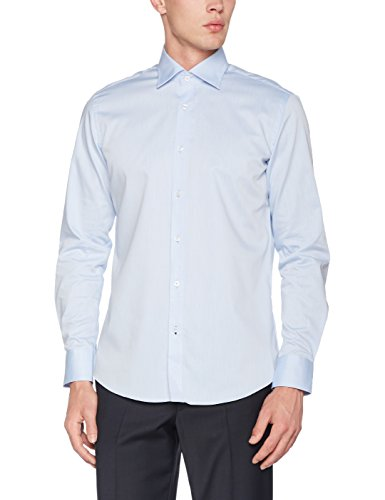 CARL GROSS Herren Businesshemd CG SV-Modern Blau (Blau 61)