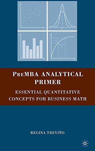 PreMBA Analytical Primer: Essential Quantitative Concepts for Business Math