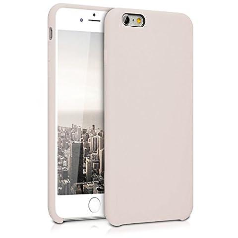kwmobile Housse de protection en silicone pour Apple iPhone 6 Plus / 6S Plus - Housse TPU en caoutchouch - housse en beige