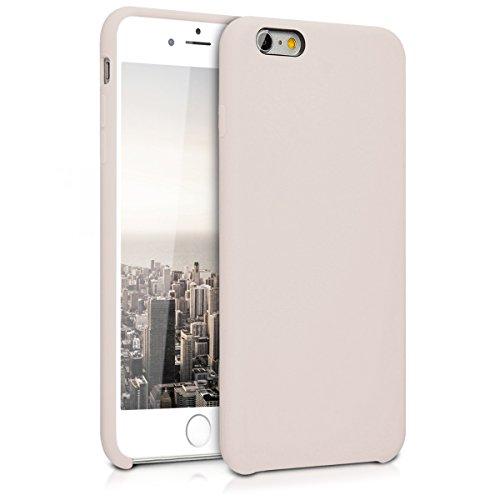 kwmobile TPU Silikon Hülle Case mit Gummi Bezug für > Apple iPhone 6 Plus / 6S Plus < in Beige