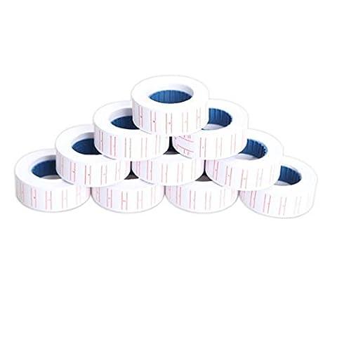 Dealglad® 10x Paper Tag Price Label Sticker Single Row for Mx-5500 Price Gun Labeller