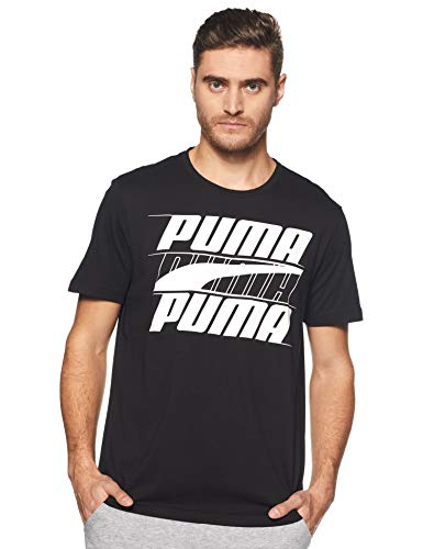 620cf4a641d Puma Rebel Basic tee Camiseta, Hombre, Negro (Cotton Black), M
