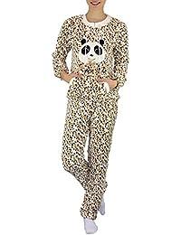 S&LU flauschiger und kuscheliger Damen Schlafanzug Hausanzug Freizeitanzug in verschiedenen Größen und Designs