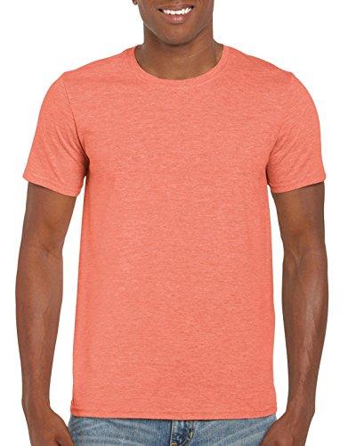 GILDAN -T-shirt  Uomo Small,Heather Orange