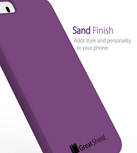 iPhone SE coque, GreatShield Guardian DriftSand Slim-Fit Snap-On Case Cover pour Apple iPhone SE / 5S / 5 - Noir Violet