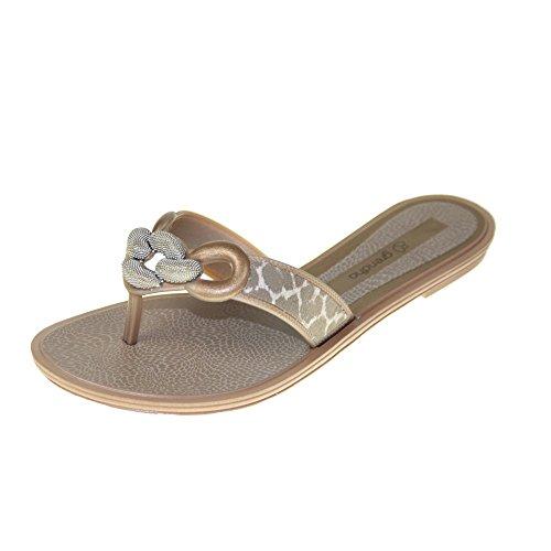 GRENDHA - Sandales EXOTIC THONG FEM - 81648 - bronze