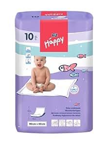 Bella Baby Happy Wickelunterlagen 90 x 60 cm, 4er Pack (4 x 10 Stück)
