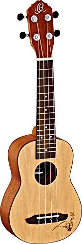 Ortega Guitars Sopran Ukulele RU5-SO, mit Decke und Korpus aus Fichte in Satin Finisch, 15 Bünde