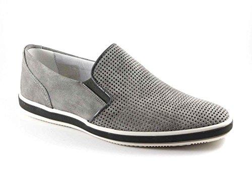 IGI&CO 76864 grigio scarpe uomo sneakers slip-on pelle forata camoscio Grigio