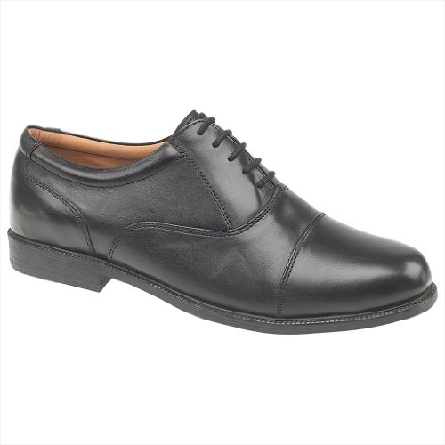 Amblers London Leather Oxford Mens Shoes – Black – Size UK 9