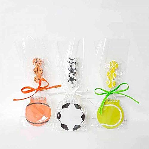 Notizbuch in Ballform + Bleistift mit Gummibälle, für Tennis oder Basketball, dekoriert mit Tasche, Schleife und Karte, 10 Stück, Geschenke für Kindergeburtstage, Schulen