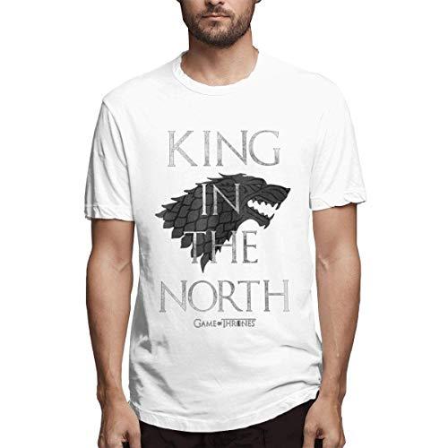 HIPGCC Herrenmode König im Norden Game of Throne Tee, XL -