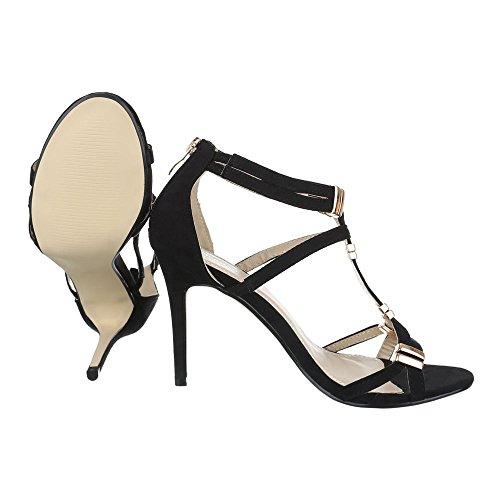 Ital-Design , Sandales pour femme Schwarz