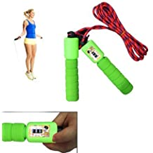 H-Store Plastic Skipping Rope with Jump Counter and Foam Handles, Multicolour-2 Pieces