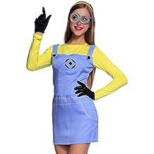 Anladia - Cosplay Dress Disfraz de Minions Dave Gru Mi Vllano Vavorito Fever misiones Talla S M L para Adulto Mujer Fiesta Carnaval Temáticas (L)