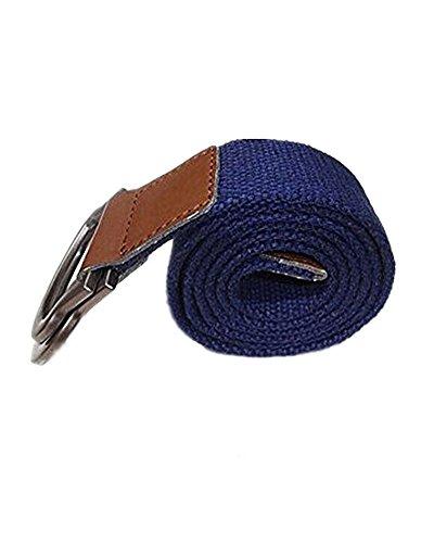 SAMGU Mode hommes Boucle ceinture main taille toile de ceinture en cuir Dark Blue