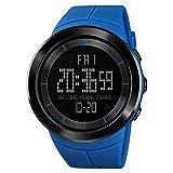 Armbanduhren Mode-Accessoires, Sport Runden Zifferblatt Datumsanzeige Hintergrundbeleuchtung Elektronische Digitale Herrenuhr - Blau