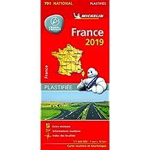 Carte France Plastifiée Michelin 2019