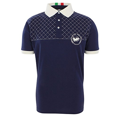 Harvey Miller Polo Club Jersey Polo Navy