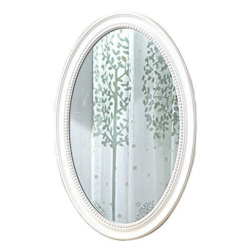wwwrl vintage specchio da bagno/specchio decorativo da parete / 50x70cm / ovale cornice di legno, camera da letto specchio cosmetico, hall dell'hotel, entrata - oro retrò