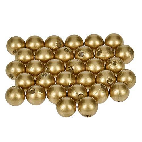 efco-Wachs Perlen, Kunststoff, Gold matt, 8mm Durchmesser, 32-teilig,