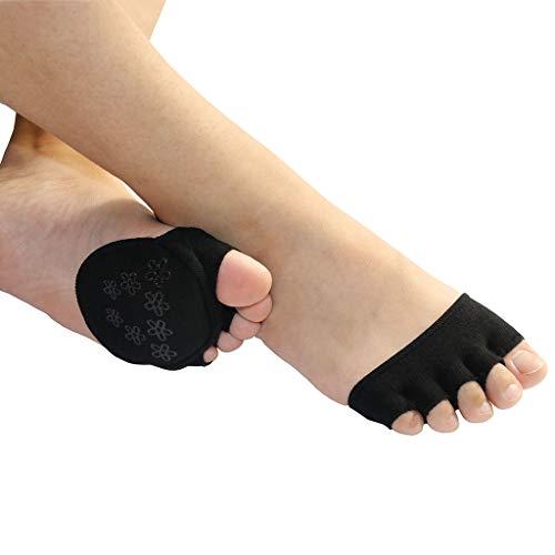 AUTPRO Offene Zehensocken No Show für Sandalen, High Heel Relief Blasenschmerzen bei Hammerzehen, Hühneraugen und Blasenbildung, Ballenkissen für High Heel Pumps, Sandalen -