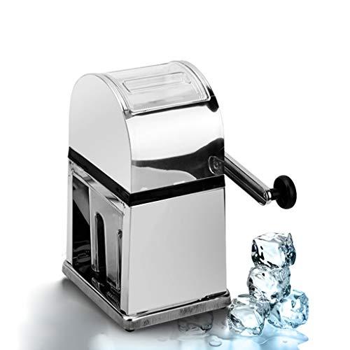 Ice Crusher - Edelstahl-Eismaschine, transparenter manueller Eiswürfel-Crusher, Inlandsgebrauch - ideal für Cocktails , Partygebrauch