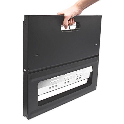 41 TQfafnGL - Relaxdays Klappgrill, praktisch, tragbar, inkl. Rost und Kohleschale, H x B x T: 30,5 x 30 x 45,5 cm, schwarz