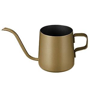 Kaffeekanne mit Schwanenhals und langem schmalen Ausguss, Edelstahl 250 ml gold