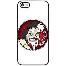 Generic Cell Phone Case for Funda iphone 5 5S SE Black Cruella de Vil 101 Dalmatians F2G0EP