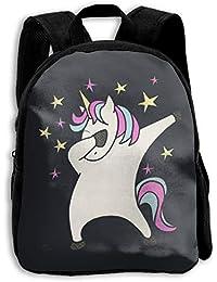 FIDALJF - Mochila para niños con diseño de Unicornio con Hombros Ajustables, ergonómica, Escuela,…