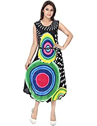 FRANCLO Women's Multicolored Printed Tunic/Kurti (Best fit 36-40 Bust)