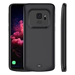 Samsung Galaxy S9 4700mAh Battery Case, Smarit Surface Cover Charger Power Bank Charging Case for Samsung Galaxy S9 4700mAh with Smart Led Power Indication