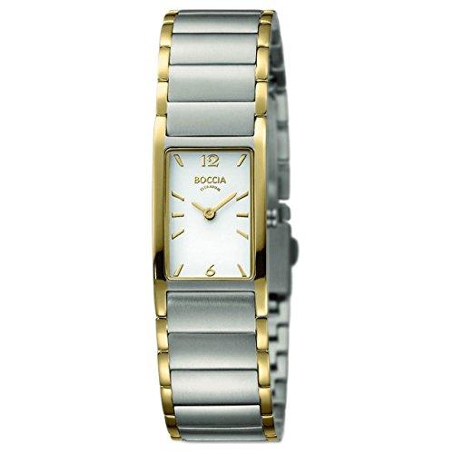 Boccia Damen Analog Quarz Uhr mit Titan Armband 3284-02