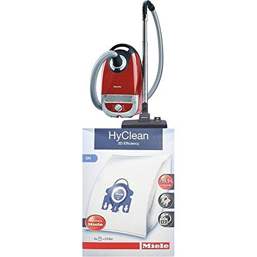 Miele Complete C2 Tango EcoLine Staubsauger, 4.5 L, 550 W + 9917730 Staubbeutel HyClean 3D, Inhalt: 4 Staubbeutel, 1 Air Clean Abluftfilter für saubere Raumlauft, 1 Motorschutzfilter, blau