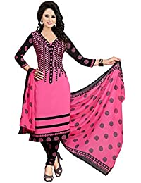 Globalia Creation Women'S Cotton Suit Piece Salwar Suit Set (Gol-25_Pink_Free Size)
