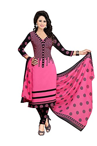 Amazon Prime French Cotton Pack Dresses For Women New Collection Dress Material Unstiched Printed Black And Blue Salwar Suit In Low Price