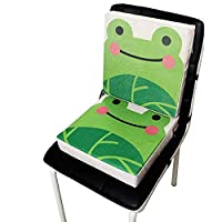 aheadad Kid Baby Harness Cushion Portable Dismountable Adjustable Highten Pad Cute Animal Print Flax Children Dining Chair Heightening Cushion Piano Pad Baby Mat