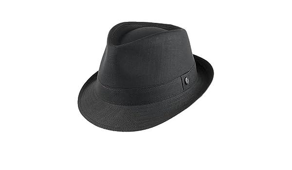 583e08c143a Jaxon   James Cotton Trilby Hat - Black  Amazon.co.uk  Clothing